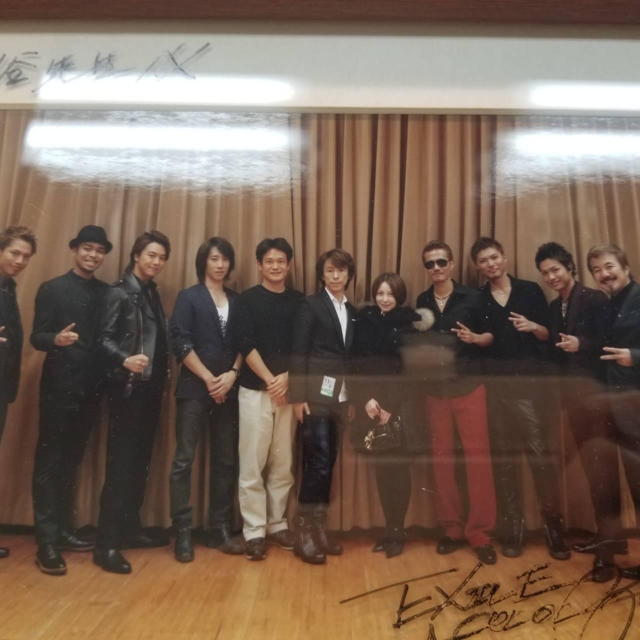 エグザイルのメンバーと長谷先生