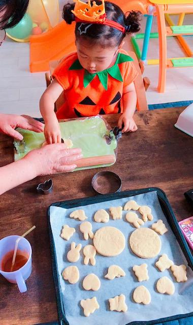 クッキーの型抜き
